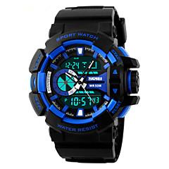 SKMEI Męskie Sportowy Zegarek na nadgarstek LED Kalendarz Chronograf Wodoszczelny Dwie strefy czasowe alarm Sportowy Kwarcowy PU Pasmo