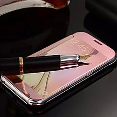 Varten Samsung Galaxy kotelo Peili / Flip Etui Kokonaan peittävä Etui Yksivärinen PC Samsung S6 edge plus / S6 edge / S6 / S5