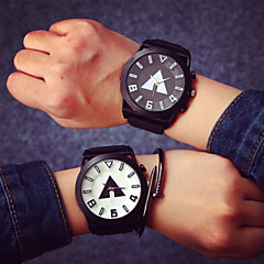 Large Dial Couple Fashion Watches Men Luxury Brand Sports Watches Women Dress Quartz Vintage Rubber Band Students Watch Cool Watches Unique Watches
