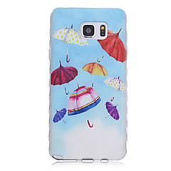 New Umbrella Pattern Waves Slip Handle TPU Soft Phone Case for Galaxy Note 3/ Note 4/ Note 5