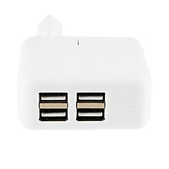 4 USB AC Mains Charger EU Adapter for iPhone 6 iPhone 6 Plus and Others