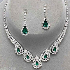 Dames Sieraden Set Druppel oorbellen Hangertjes ketting Elegant Bruids Festival/Feestdagen Kostuum juwelen Edelsteen Gesimuleerde diamant