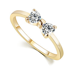 The Sweet Double Butterfly Bow  Diamond Ring