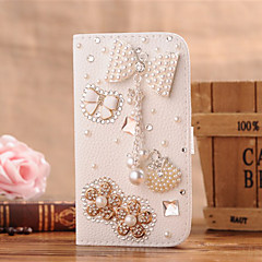 Handmade Diamond PU Leather Full Body Case with Kickstand and Card Slot for Samsung Galaxy S3/S4/S5/mini/S6/S6 Edge