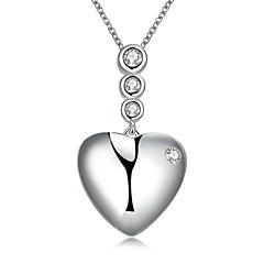Γυναικεία Κολιέ Τσόκερ Κρεμαστά Κολιέ Κολιέ Δήλωση Heart Shape Ασήμι Στερλίνας Love Καρδιά κοστούμι κοστουμιών Κοσμήματα Για Γάμου Πάρτι