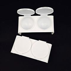 2 pezzi colore piatto coppa di cristallo di plastica bianche