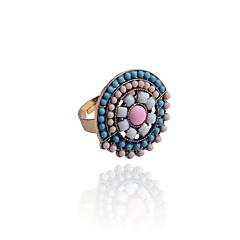 Bohemian Flower Type Beads Ring