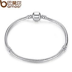 Style  Silver Crystal Charm Bracelet for Women  DIY Jewelry