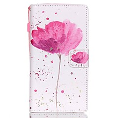 For Huawei Case / P8 Lite Wallet / Card Holder / with Stand Case Full Body Case Flower Hard PU Leather Huawei Huawei P8 Lite