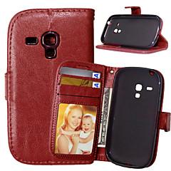 Για Samsung Galaxy Θήκη Πορτοφόλι / Θήκη καρτών / με βάση στήριξης / Ανοιγόμενη tok Πλήρης κάλυψη tok Μονόχρωμη Συνθετικό δέρμα SamsungS6