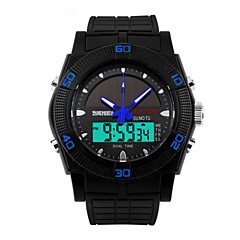 Skmei® Men's Dual Time Zone Soloar Multifunction Wrist Watch 50m Waterproof Assorted Colors Cool Watch Unique Watch Fashion Watch