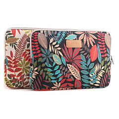 """13"""" 14"""" 15.6"""" Colorful coleus Pattern Canvas Bag Computer Protective Sleeve Case for Macbook 13 /15 HP lenovo"""