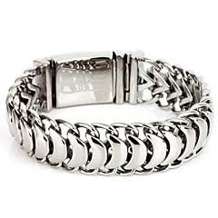 L:22CM W:1.9CM Fashion Stainless Steel 316L Silver Tone  Men Cool Link Bracelet