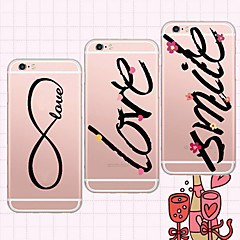 For iPhone 5 Case Ultra-thin / Transparent / Pattern Case Back Cover Case Word / Phrase Soft TPU iPhone SE/5s/5