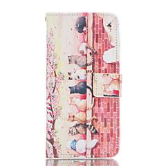 Na Samsung Galaxy Etui Etui na karty / Z podpórką / Flip / Magnetyczne / Wzór Kılıf Futerał Kılıf Kot Skóra PU Samsung A7 / A5