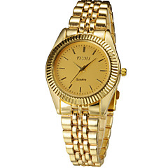 Couple's Round Dial Steel Band Quartz Fashion Watch Cool Watches Unique Watches