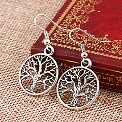Lureme®  Punk Style Retro Individuality Hollow Out Life Tree Alloy Lucency Earrings