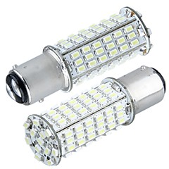 2* Car 1157 P21/5W Tail Brake Stop Bulb 3020SMD White 102 LED Light 350Lm 5000K - 6000K