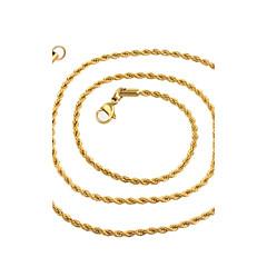 Kedje Halsband ( Rostfritt stål , Gyllene ) - till Bröllop / Party / Dagligen / Casual / Sport