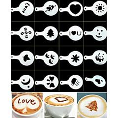 16pcs plastic fantezie cafea model de imprimare design minimalist praf pad