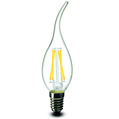 1 Stück e14 4w 4 cob 400 lm warmweiß CA35 dimmbare Kerzenlampen 220-240 V Wechselstrom