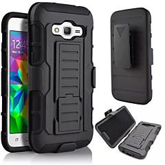 3 w 1 Wpływ czarny pancerz hybrydowy przypadku pasa klipsem obrotowym stanąć do Samsung Galaxy A3 / A5 / A7 / A8