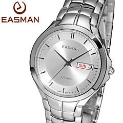 easman mens Dag kalender show safir vattenresistent rostfritt stål handleden kvarts klockaklockor för män present