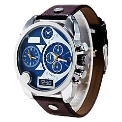 esportes impermeáveis homens diesel relógio de quartzo calendário autêntico relógio de pulso de couro montre reloj relogio masculino