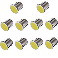 10pcs hry® 1156 12smd cob estacionamento luz estilo do carro branco lâmpadas cor caminhão de reboque rv auto levou 12v lâmpada do carro