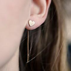Dames Druppel oorbellen Liefde Eenvoudige Stijl Europees Legering Hartvorm Sieraden Voor Dagelijks Causaal