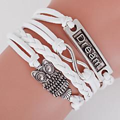 multicamadas coruja& sonho& 8 bracelete de tecer, braceletes inspirados brancas