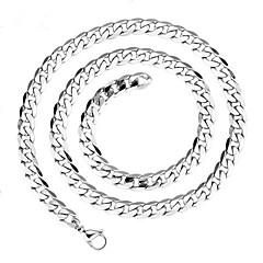 Kedje Halsband ( Rostfritt stål , Silver ) - till Bröllop / Party / Dagligen / Casual / Sport
