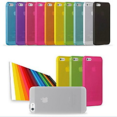 PP Ultra Thin 0.01 inch/0.3 mm Soft Case for iPhone 5/5S (Assorted Colors)