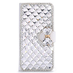 For LG Case Card Holder / Rhinestone / with Stand / Flip Case Full Body Case Geometric Pattern Hard PU Leather LG
