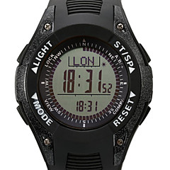Herr / Damers / Unisex Armbandsur DigitalLCD / Höjdmätare / Kompass / Termometer / Kalender / Kronograf / Vattenavvisande / Dubbel