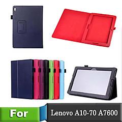 lichee stil folio bog pu læder smart cover med stativ tilfældet for lenovo a10-70 / A7600 tabel (assorterede farver)