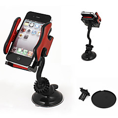 Car Windshield Mount 360 Degree Cell Phone GPS MP4 Navigation Holder Black Red