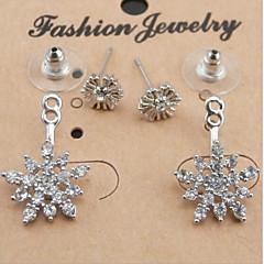 Σκουλαρίκι Κρεμαστά Σκουλαρίκια Κοσμήματα 2pcs Κράμα / Cubic Zirconia / Επάργυρο Γυναικεία Ασημί