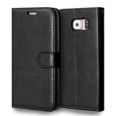 PU téléphone étui en cuir étui pour Samsung Galaxy S3 / S4 / S5 / S6 / s3mini / s4mini / s5mini / S6 bord / bord S6 + (couleurs assorties)