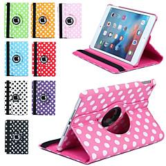 Luksus Print Prikkede 360 Rotation PU Læder Taske Til Apple Ipad Mini 3/2/1 Tablet Smart Etui Flip Tilpasset Med Stativ