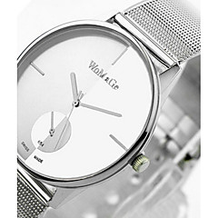 Mulheres Relógio de Moda Quartz Relógio Casual Lega Banda Prata marca-