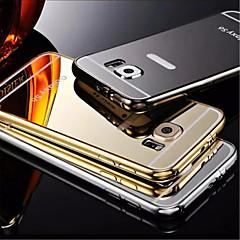 placage miroir arrière avec étui de téléphone châssis métallique pour le bord + / S6 / la s6edge samsung galaxy (couleurs assorties)