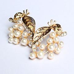 New Arrival Fashional Pearl Leaf Earrings
