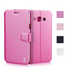 ylellinen silkki rakenne PU nahkaa lompakko flip suojakotelo Samsung Galaxy A3 / A5 / A7 / A8 (eri värejä)