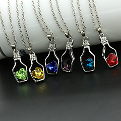 Women's Pendant Necklaces Crystal Crystal Alloy Heart Fashion Yellow Red Green Pink Light Blue Jewelry Wedding Party Daily Casual 1pc