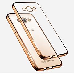 Mert Samsung Galaxy tok Galvanizálás / Áttetsző Case Hátlap Case Egyszínű TPU Samsung A7 / A5