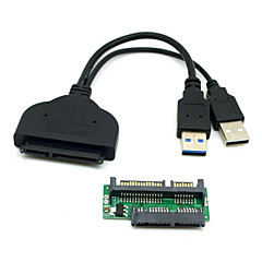 CY® Double USB 3.0 Cable with Micro SATA Pinboard