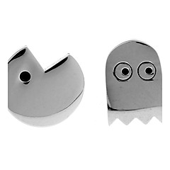 Pac-Man ghost games plated white steel black French shirt cufflinks cuff nail