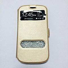 yksivärinen PU puhelin kotelo Galaxy s6edge plus / s6edge / S6 / S5 / s5mini / S4 / s4mini / S3 / s3mini