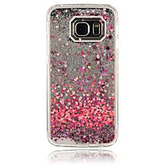 For Samsung Galaxy etui Flydende væske Etui Bagcover Etui Hjerte PC for Samsung S6 edge S6 S5 S4